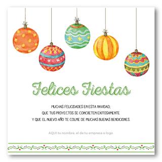Esferas Navideñas Tarjetas Para Navidad Y Fin De Año