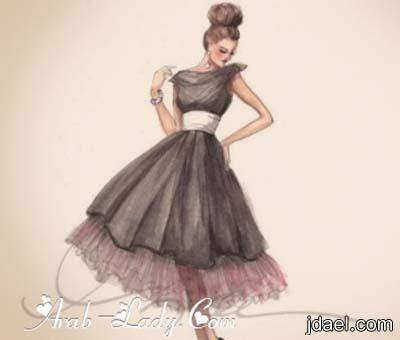 فن رسم تصاميم فساتين طويله وقصيره للسهرات منتدى جدايل Vintage Fashion Sketches Fashion Sketches Dresses Fashion Sketches