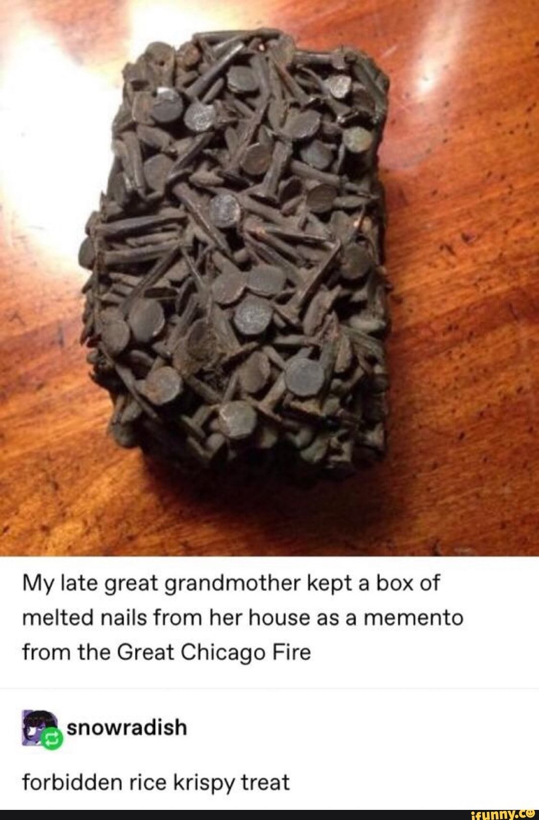 My Late Great Grandmother Kept A Box Of Melted Nails From Her