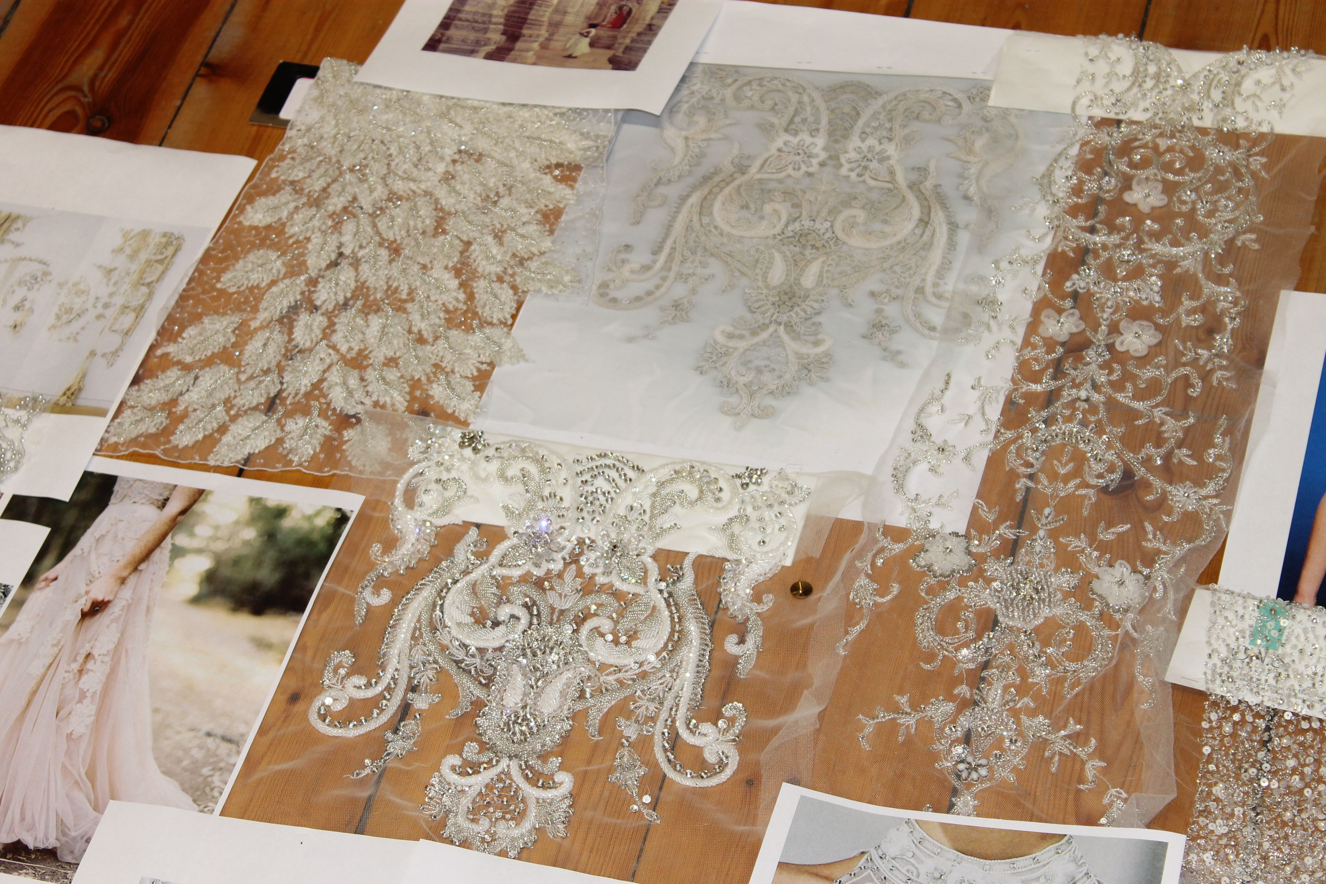 Early embellishment planning for the Catherine Deane AW14 collection