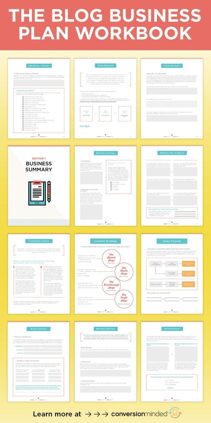 The Blog Business Plan Workbook Blog business plan