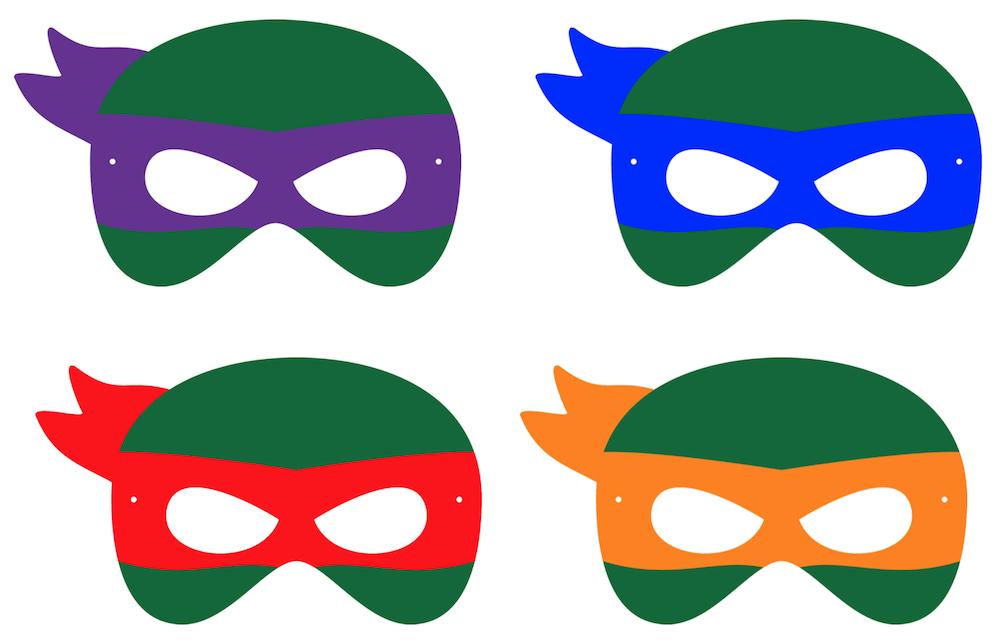 Printable Halloween Masks Printable Halloween Masks Ninja Turtle Crafts Ninja Turtles Birthday Party
