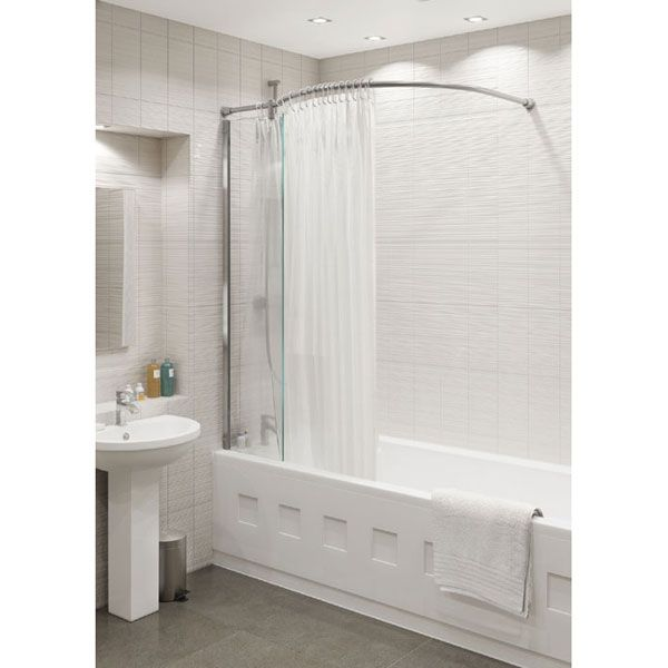 Kudos Inspire Over Bath Shower Panel with Shower Curtain Rail ...