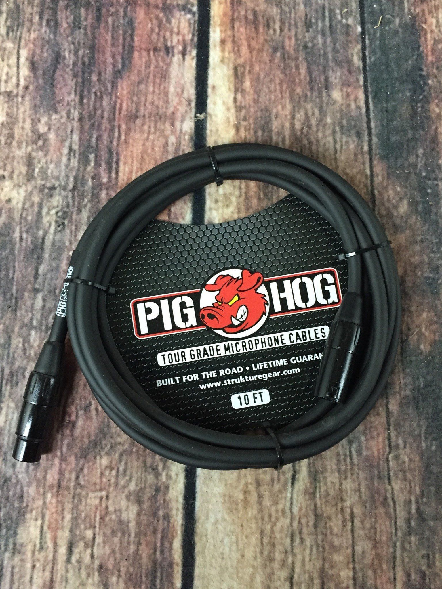 Pig Hog PHM10 8mm 10ft XLR Microphone Cable Cable, This
