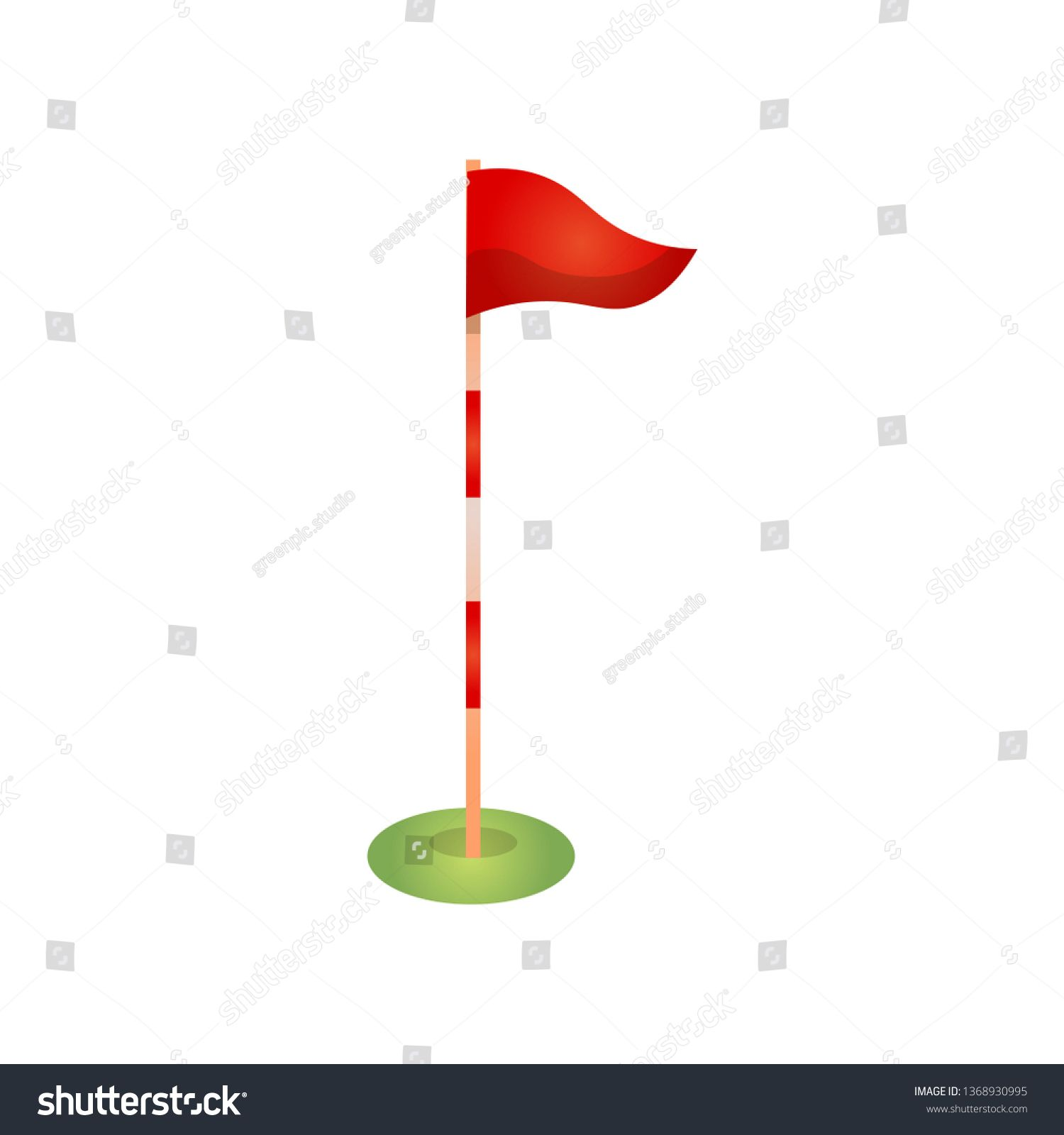 Red Golf Flag Pole With Marks And Wind Direction Ad Ad Flag Golf Red Pole Business Card Black Professional Business Cards Wind Direction