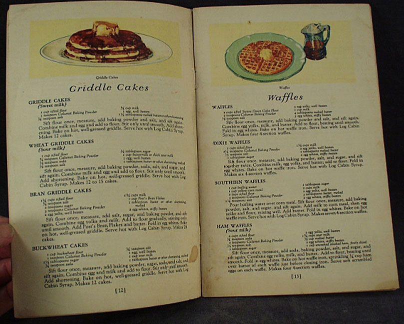 Old, Calumet Baking Powder, Recipe Book