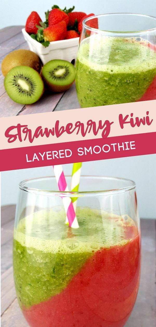 Who doesn�t love a classic combination like this fresh strawberry and kiwi smo...
