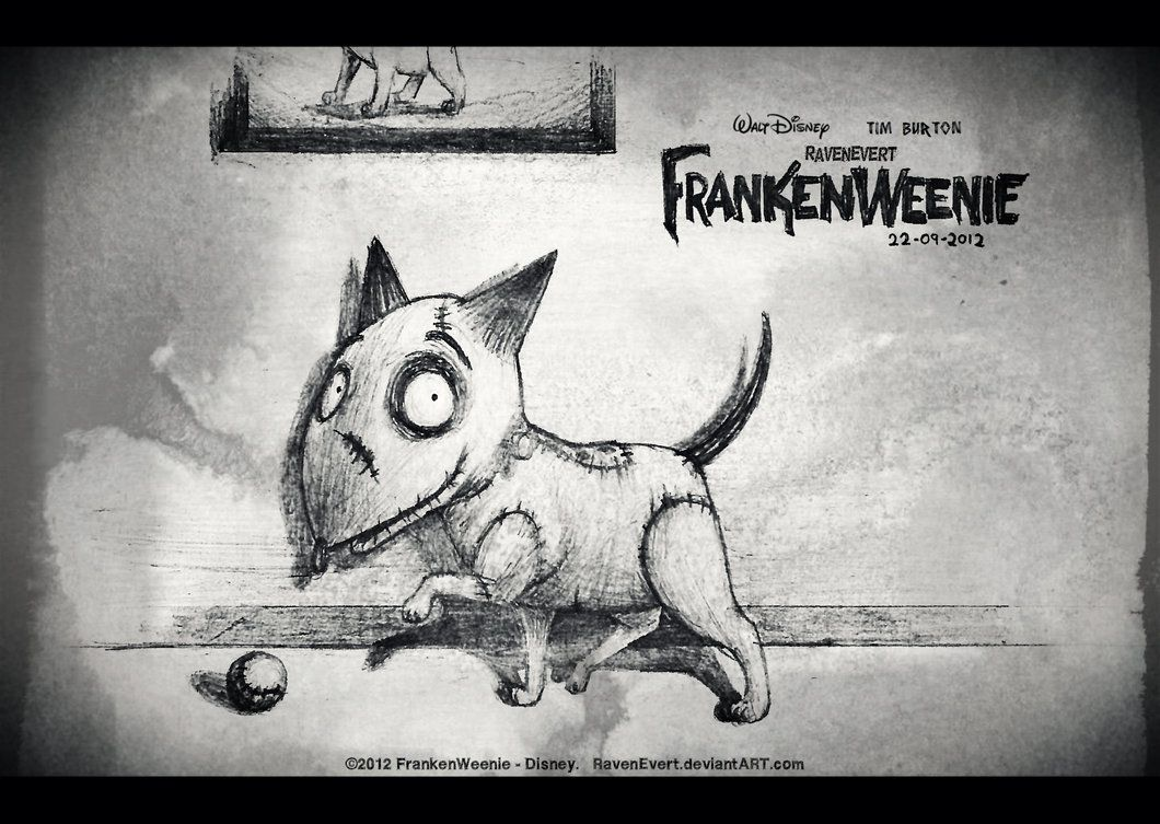 Frankenweenie Sparky By Ravenevert Deviantart Com On Deviantart Mediums Of Art Vintage Halloween Tim Burton Movie