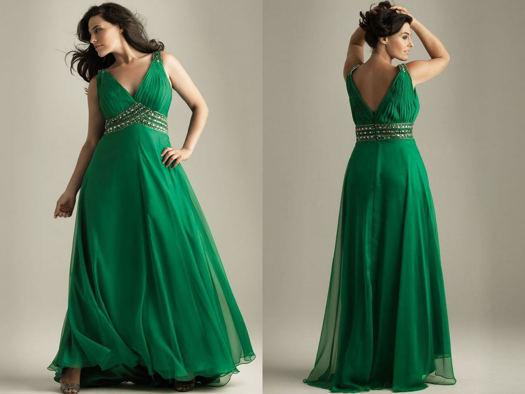 emerald green plus size | Fashionable Dresses---My style ...