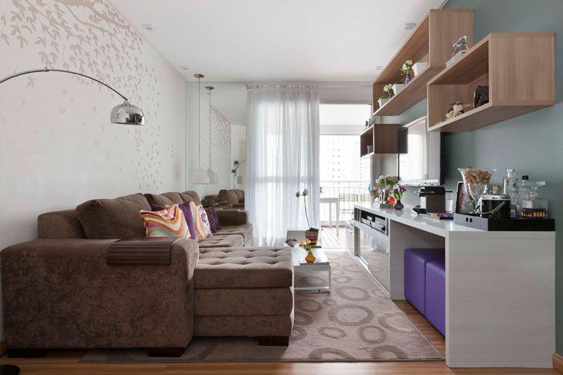apartamento de 105 m repleto de cores e arranjos de parede small house living room decor. Black Bedroom Furniture Sets. Home Design Ideas