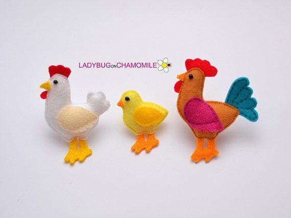Farm Animals Felt Magnets Price Per 1 Item Make Your Own