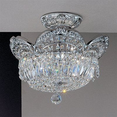 Classic Lighting 69763 5 Light Emily Semi Flush Ceiling Light