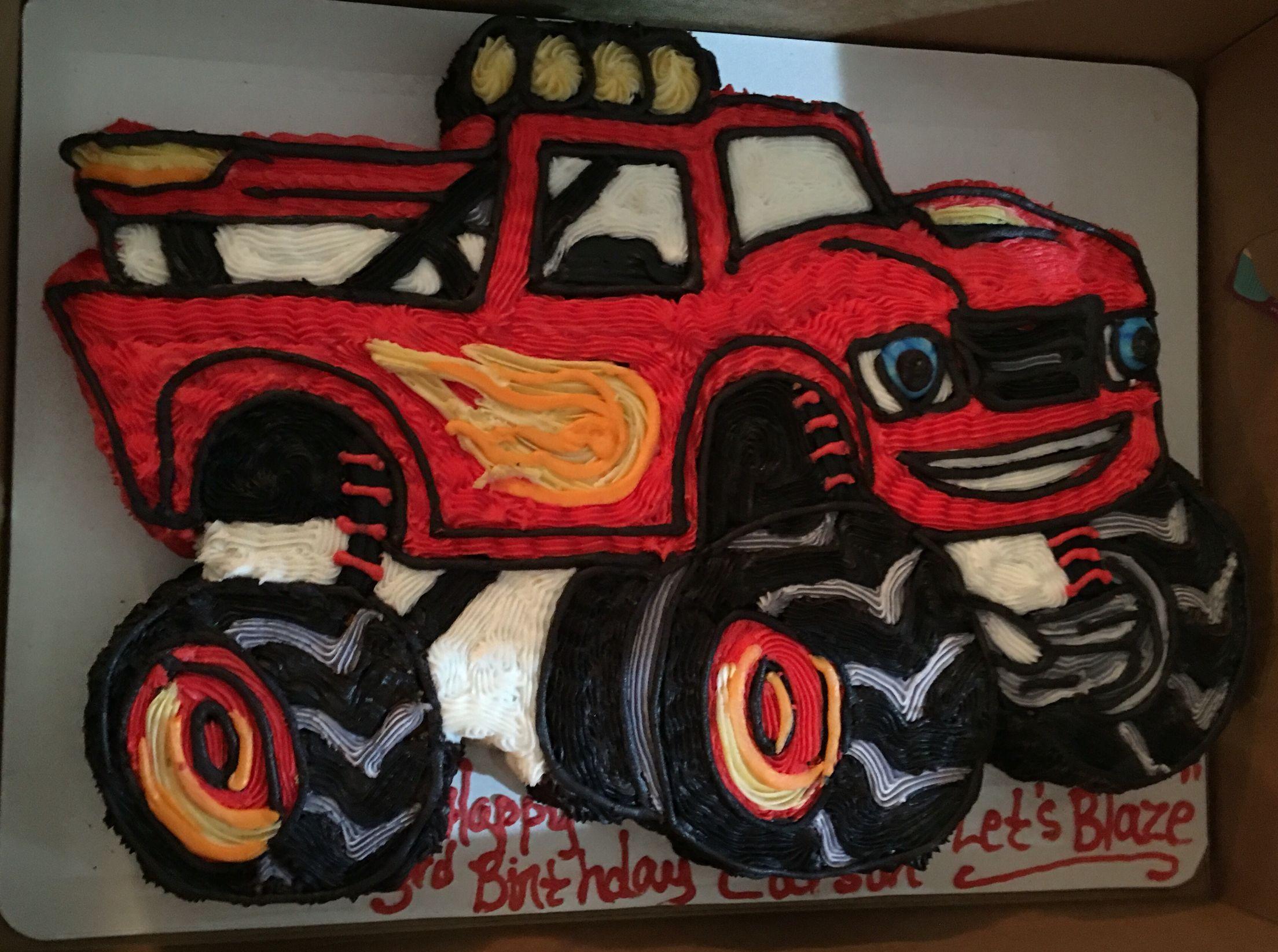 Blaze and the monster machines birthday cake! :)