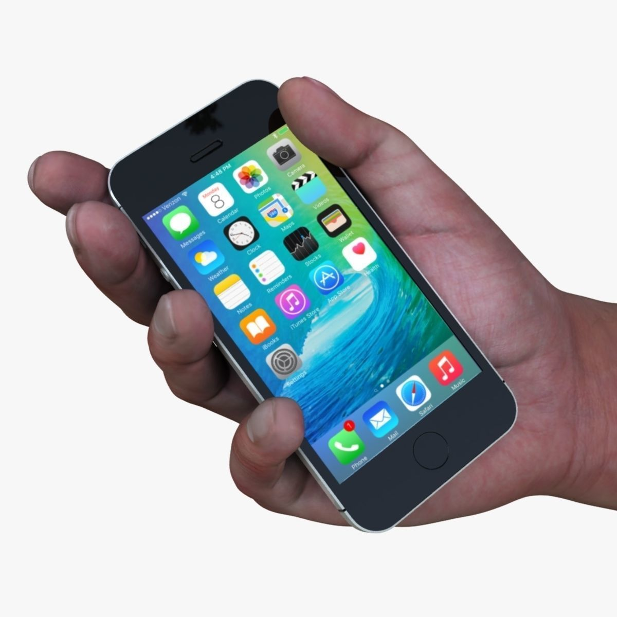 Hand Holding Smartphone 3D model