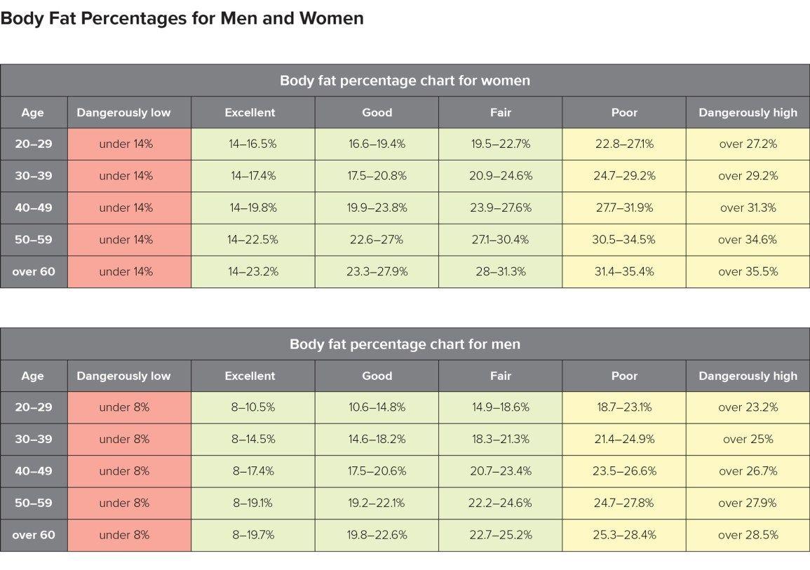 Pin On Body Fat Percentage Chart