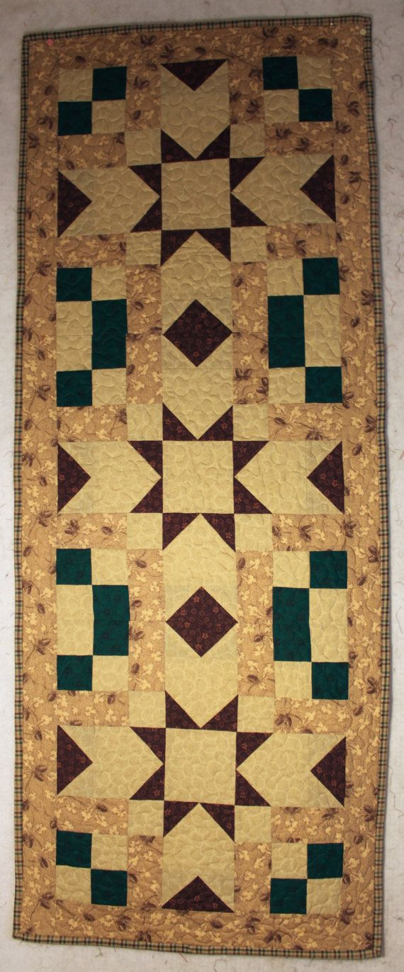 Quilted Table Runner by Senntimental on Etsy, $35.00
