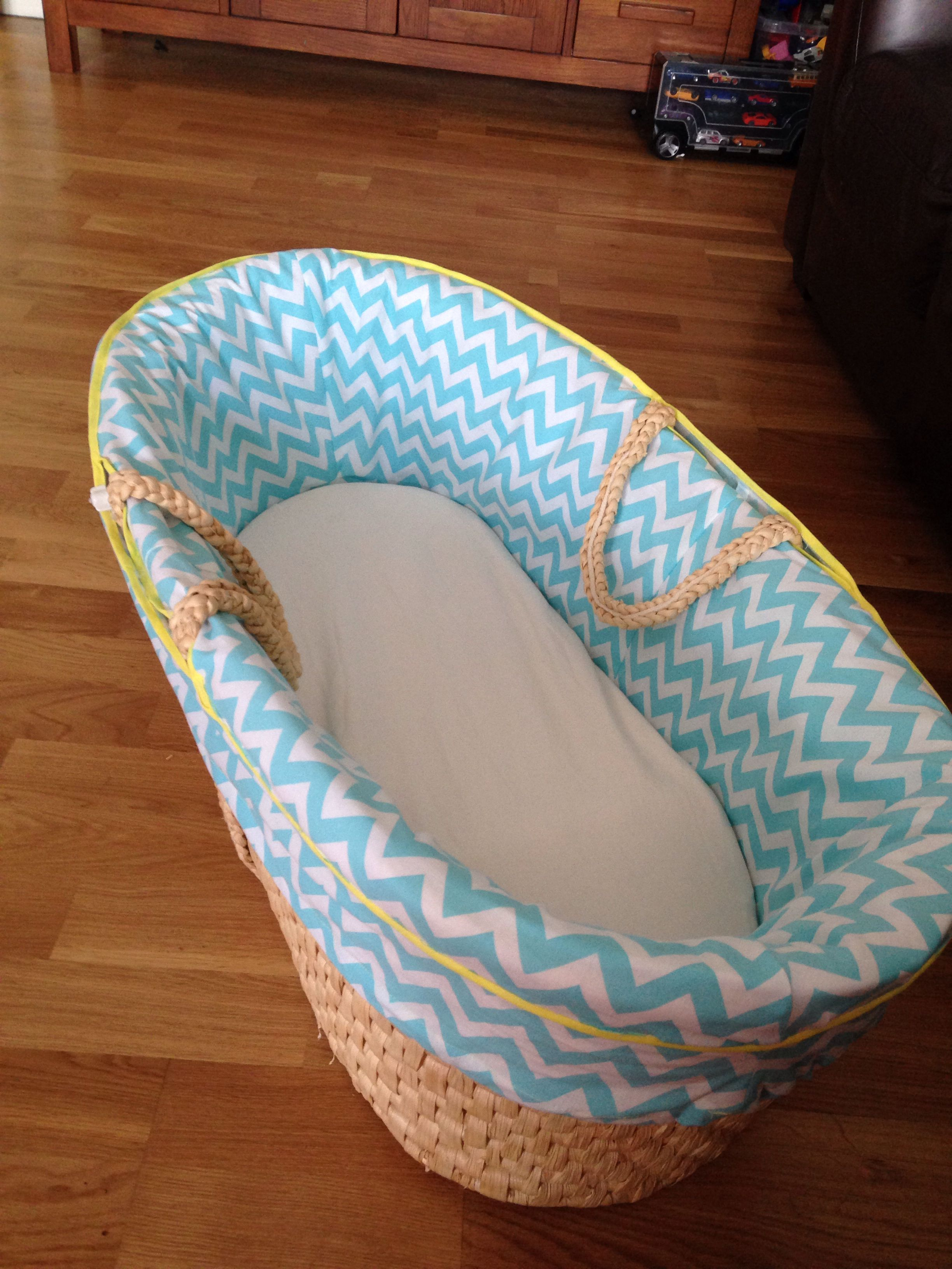 Baby Bassinet Moses Basket Diy Home Made Moses Basket Cover For Nautical Chevron
