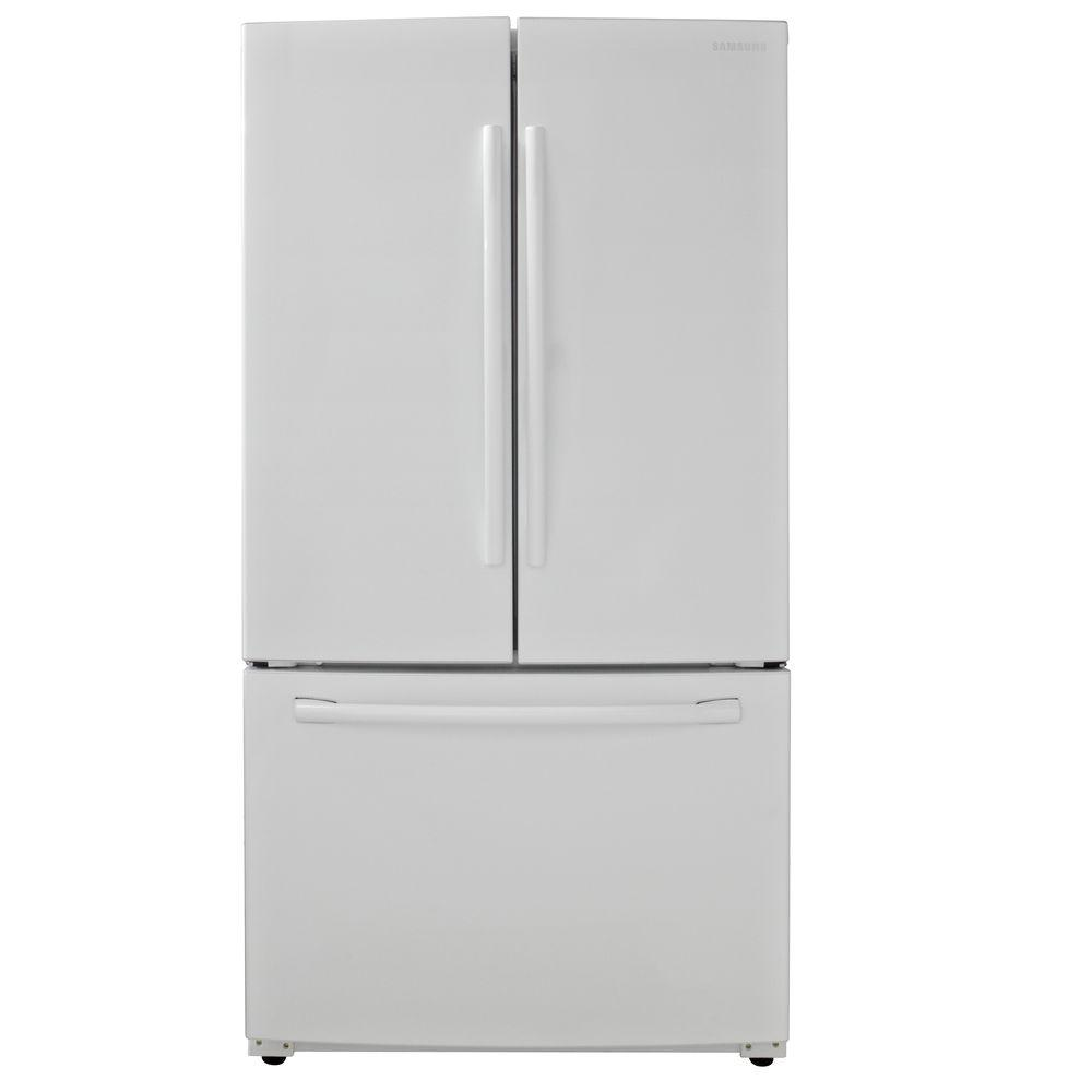 Samsung 25 5 Cu Ft French Door Refrigerator In White Rf260beaeww The Home Depot French Doors Buy Refrigerator White French Door Refrigerator