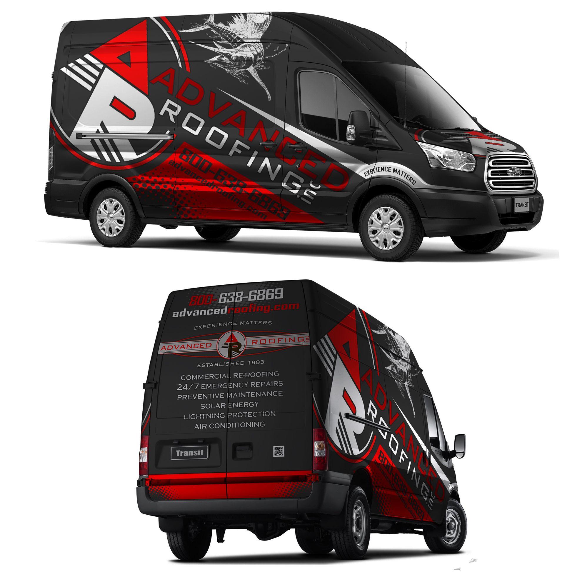 Van Wrap Based Off Your Truck Design