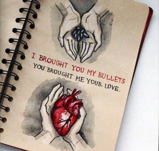 MCR Bullets era art: I brought you my bullets, you brought ...