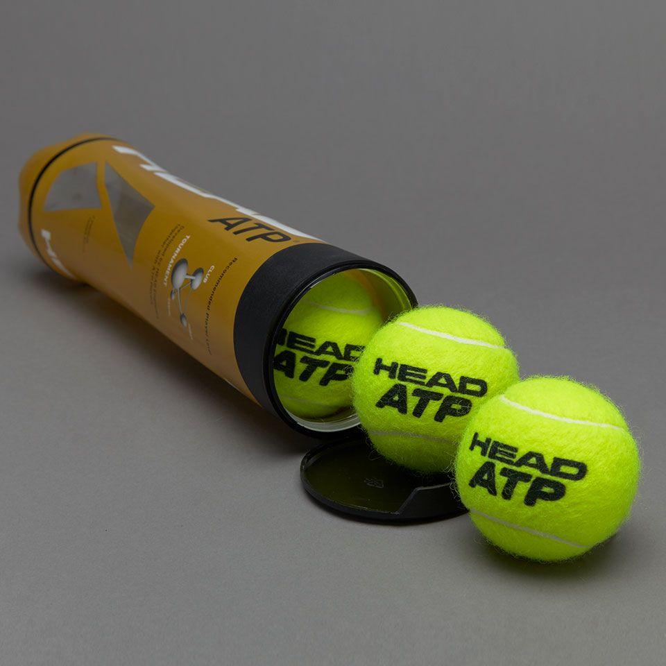 Head Tournament Atp 4 Ball Tube Yellow Head Tennis Tennis Tube