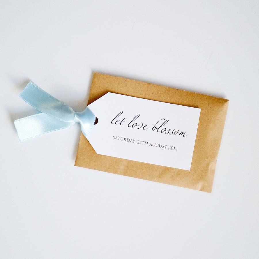 Seed Packet And Personalised Tag Favour | Seed packets, Favors and ...