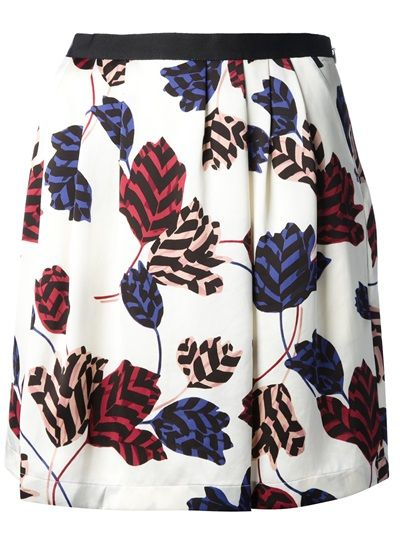 Marc By Marc Jacobs Printed A-Line Skirt  #genteroma