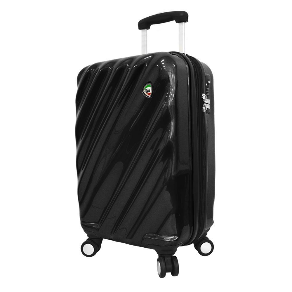 Mia Toro Italy Onda Fusion Hardside Spinner Carry-on Black