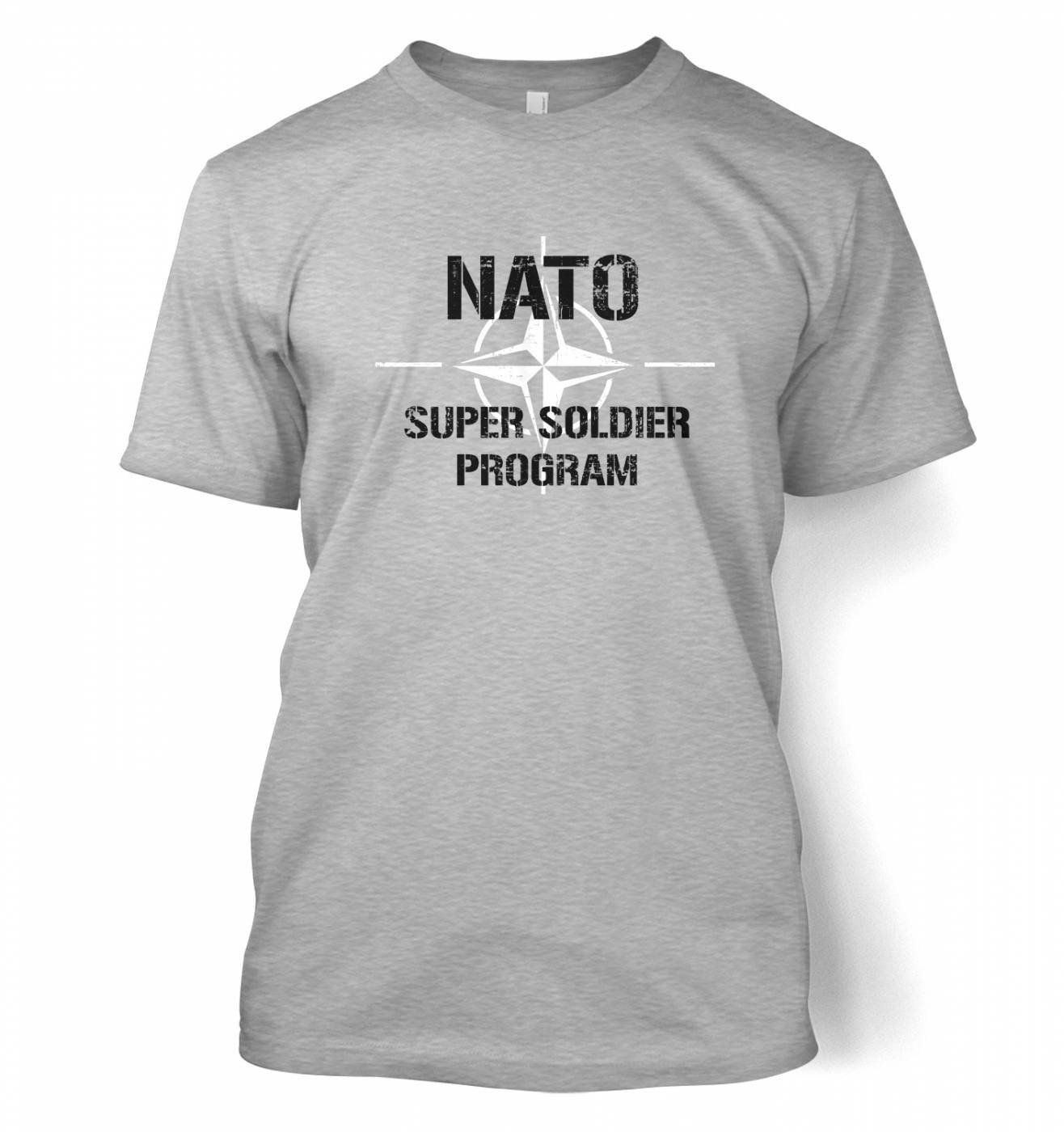 d5040185 Science Tshirts By Something Geeky Mens NATO Super Soldier Program T-shirt