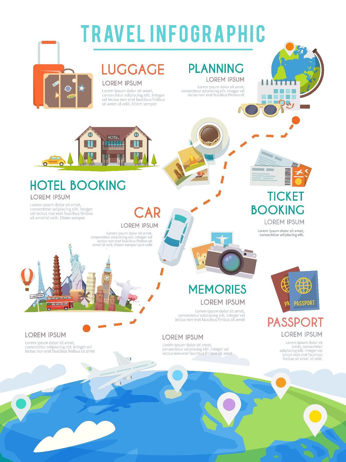 Travel Infographic VacationWorldTripTourism Travel