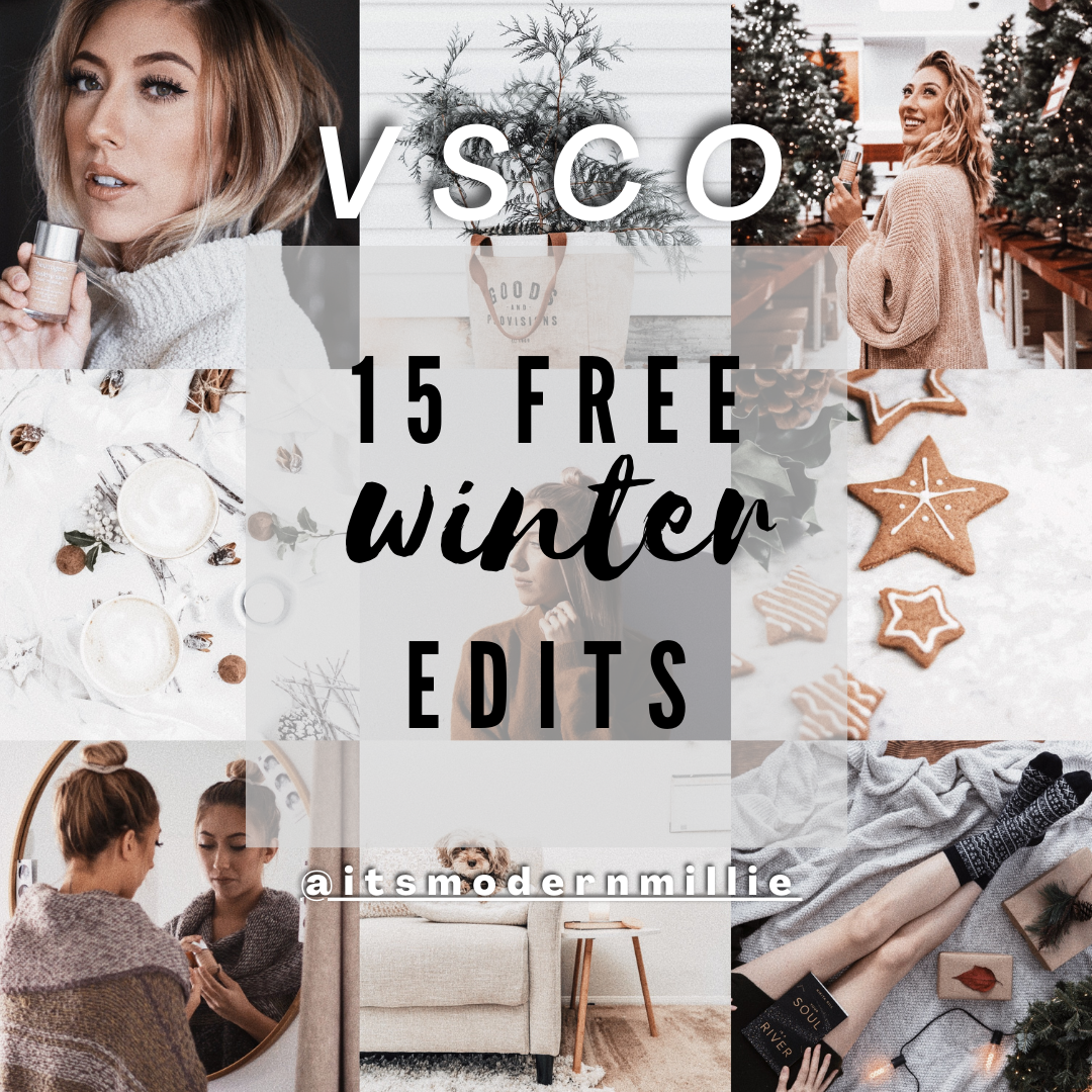 15 free winter VSCO filters for Instagram theme | @itsmodernmillie