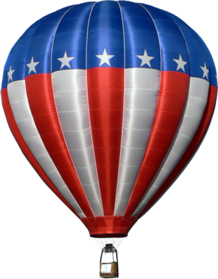 Red White And Blue Hot Air Balloon Hotairballoon Hot Air Balloon Image Credit God0fgraphics08 On W Air Balloon Hot Air Ballon Hot Air Balloon Rides