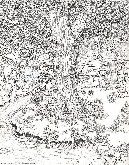 crazy detailed nature picture from bestadultcoloringcom