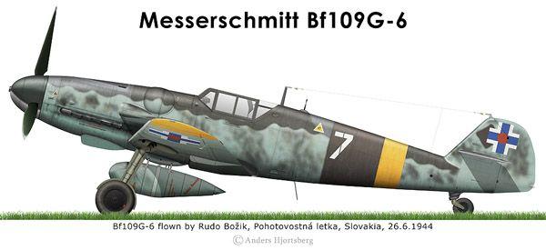 Bf109G-6 Slovaque | WWII Planes | Pinterest | Dibujo de perfil, De ...