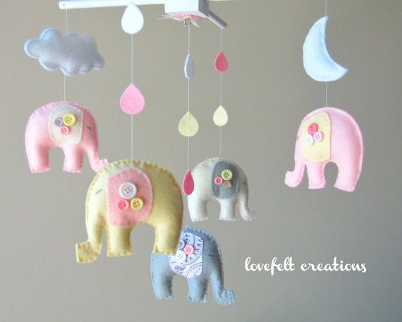 Baby Girl Elephant Mobile :)