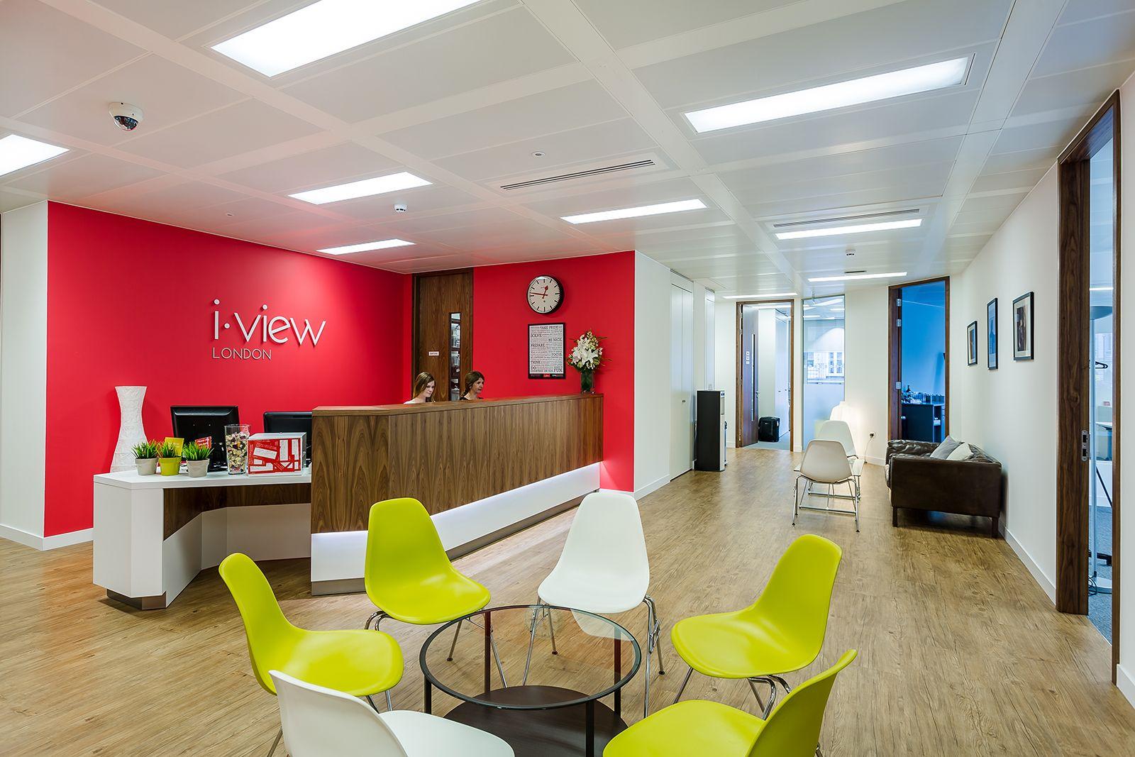 Inside The New Offices Of I View London Interior Design Portfolios Lobby Interior Design Work Office Design
