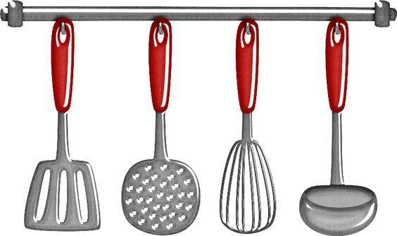 Retro Cocinera Utensilios De Cocina Para Diseno Material Didactico