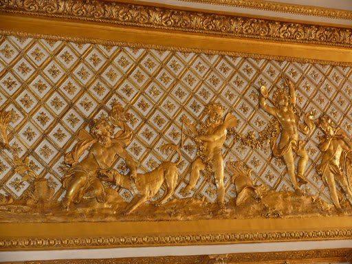 Le salon de l\u0027Œil de bœuf, détail de la frise du plafond VERSAILLE