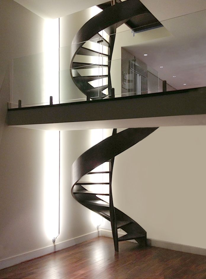 Softly illuminate spiral staircases unique lighting idea for softly illuminate spiral staircases unique lighting idea for stairs soft line by edge aloadofball Images