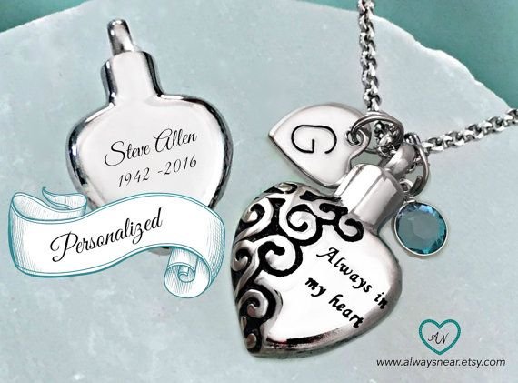 Heart urn pendant cremation jewelry ashes necklace cremation heart urn pendant cremation jewelry ashes necklace cremation necklace memorial urn personalized urn always in my heart keepsake mozeypictures Image collections