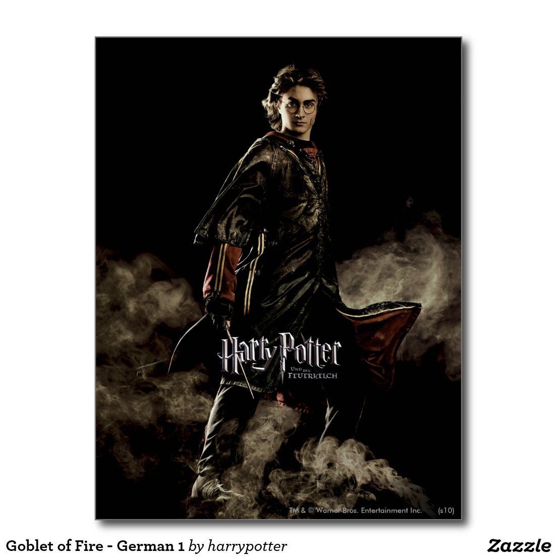 Goblet Of Fire German 1 Postcard Goblet Of Fire Harry Potter Goblet