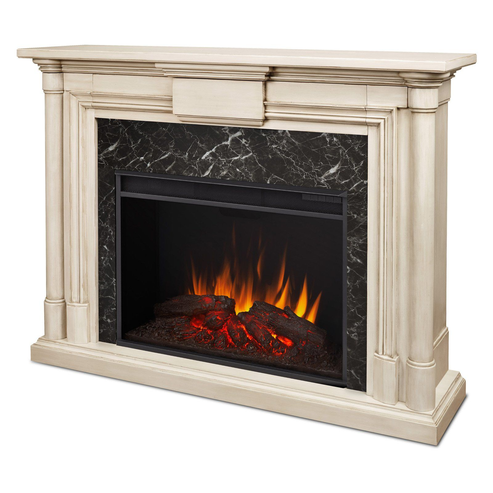real flame maxwell grand electric fireplace white wash 8030e ww