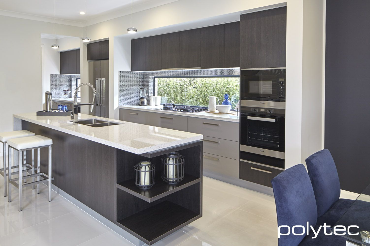 Polytec doors backsplash best polytec inspiration images - Melamine kitchen cabinets ...