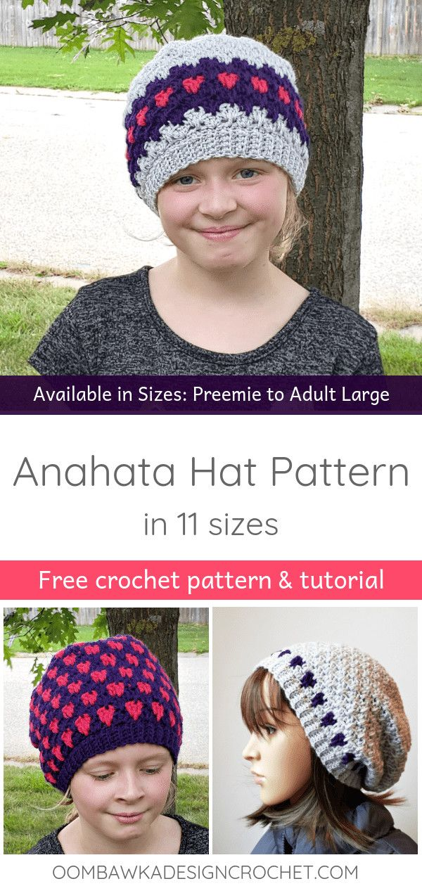 Anahata Hat. Free Pattern in 11 sizes. in 2018 | Baby and Children ...