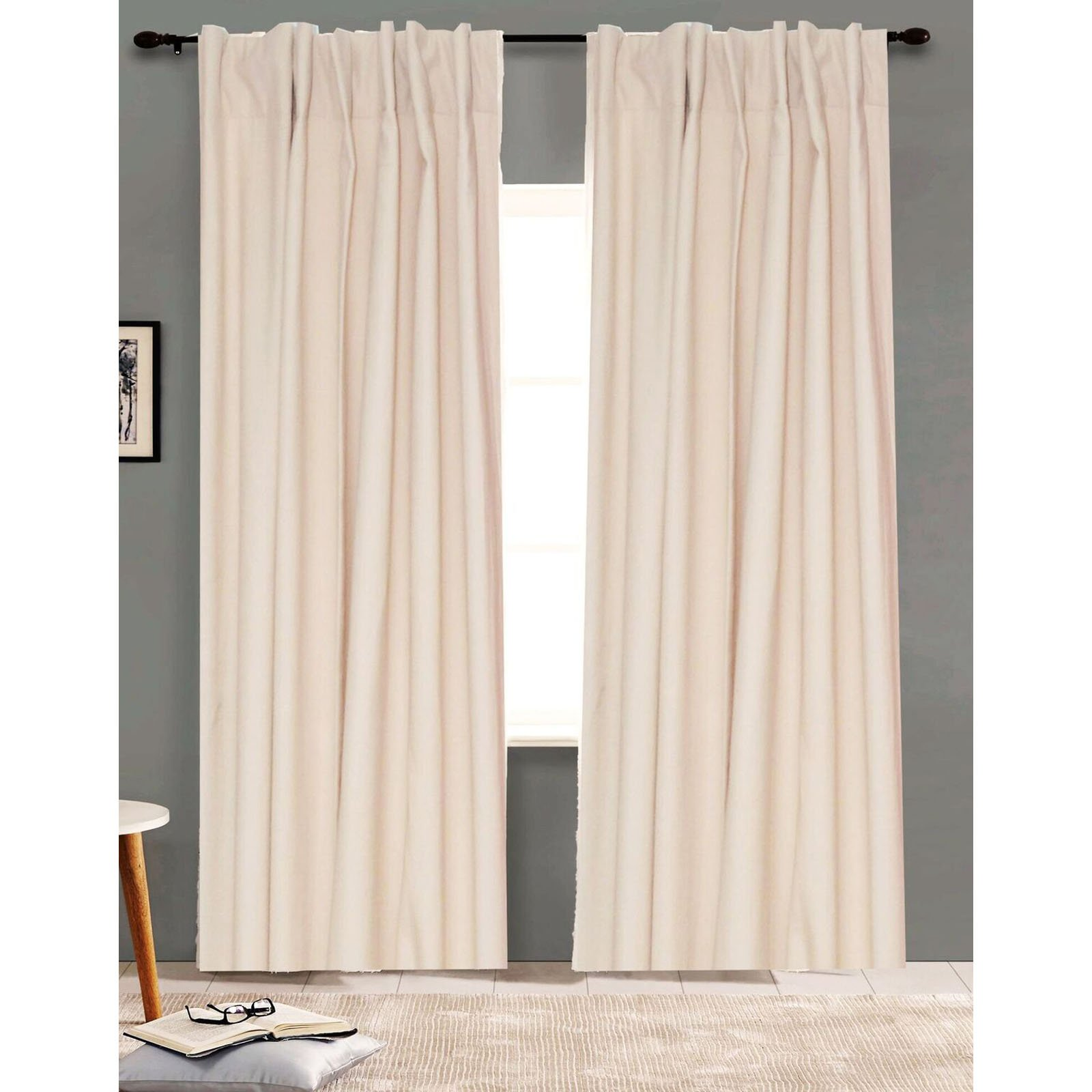 American Colors Brand Heritage Cotton Lined Curtain Panel Ivory