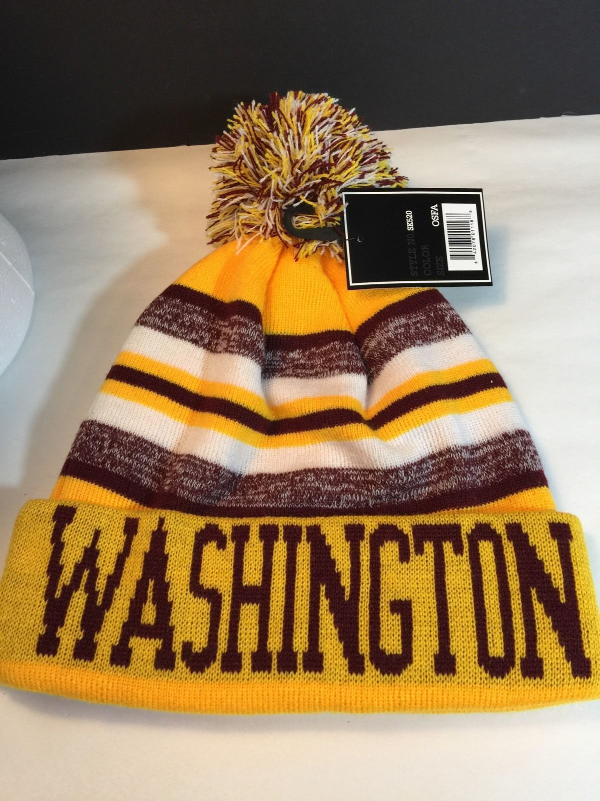 80e1c318 Washington Redskins NFL New York Headwear Knit Pom Hat Gift | Men's ...