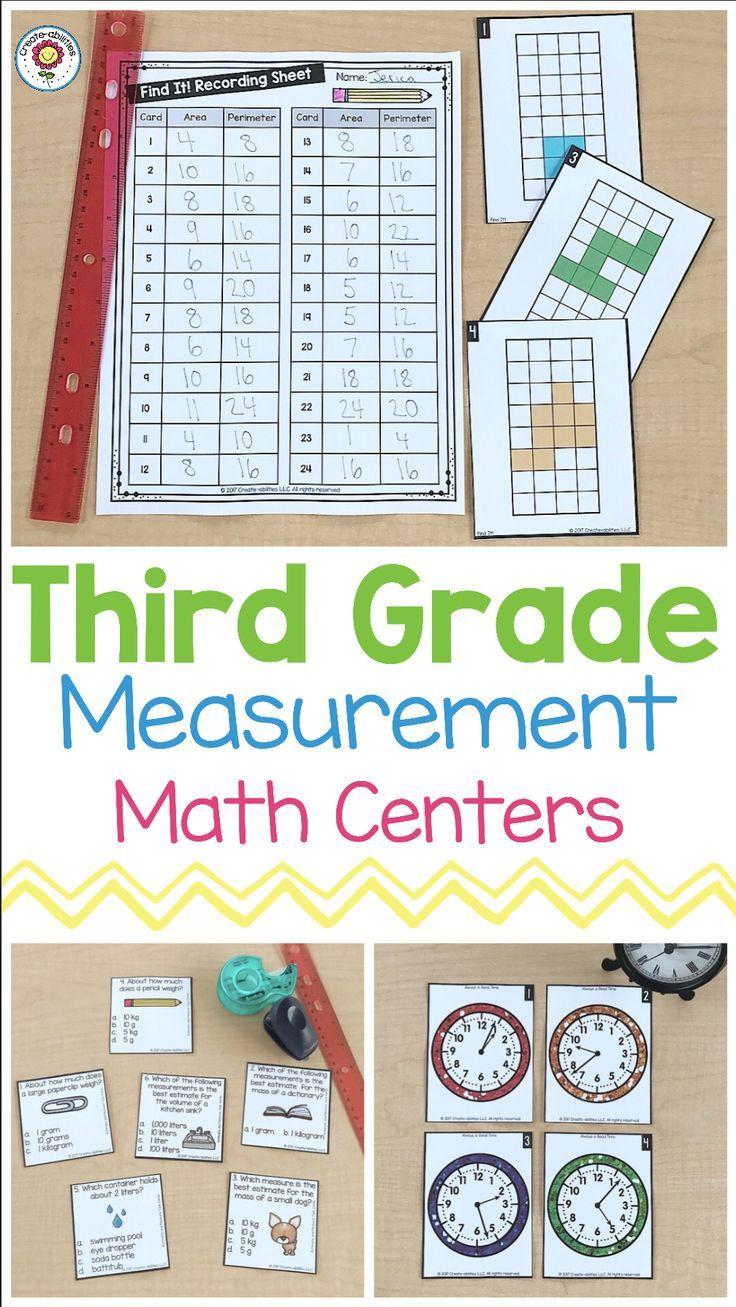 3rd Grade Measurement Math Centers Measurement math