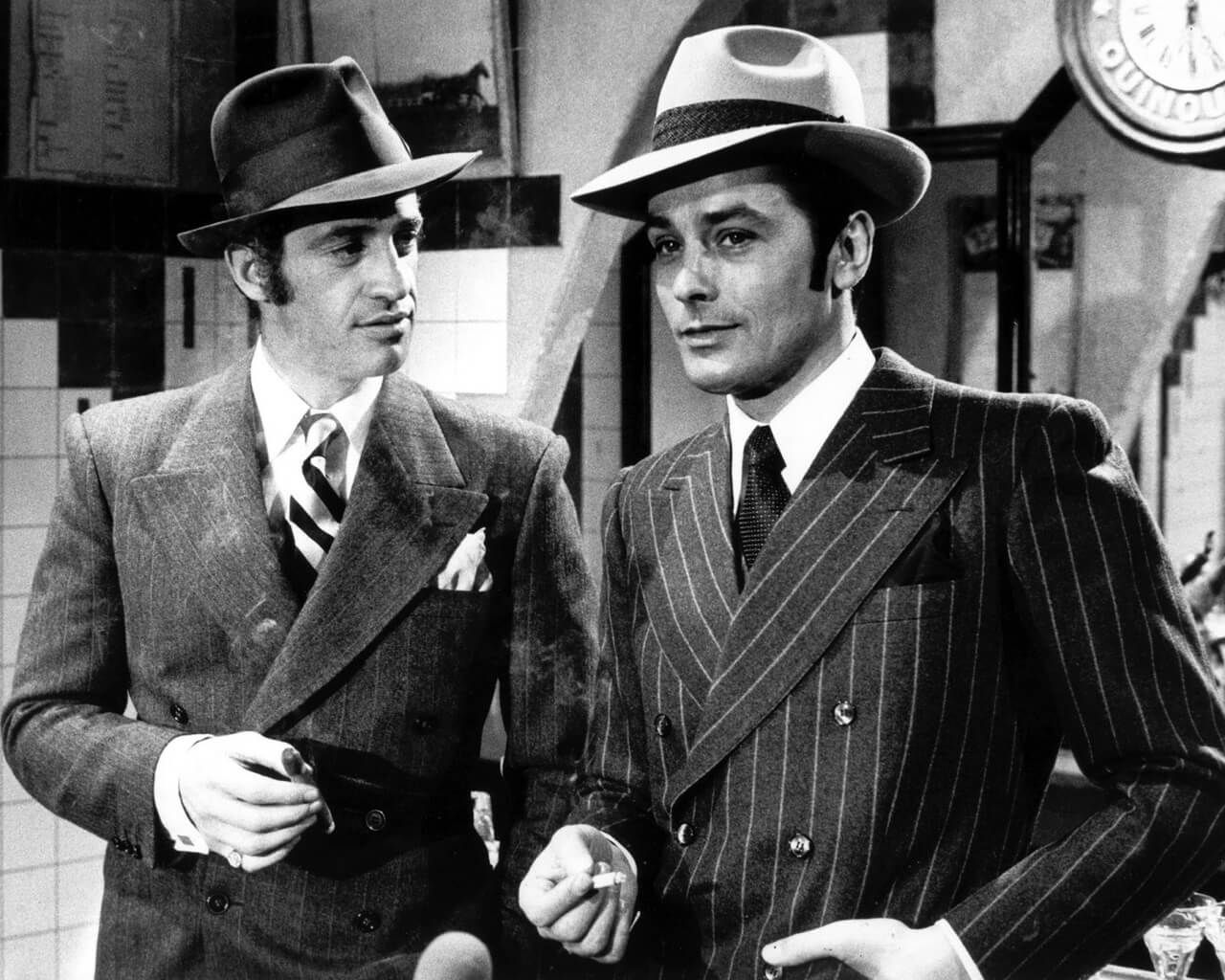 Jean-Paul Belmondo and Alain Delon in Borsalino  82b00c9b40fa