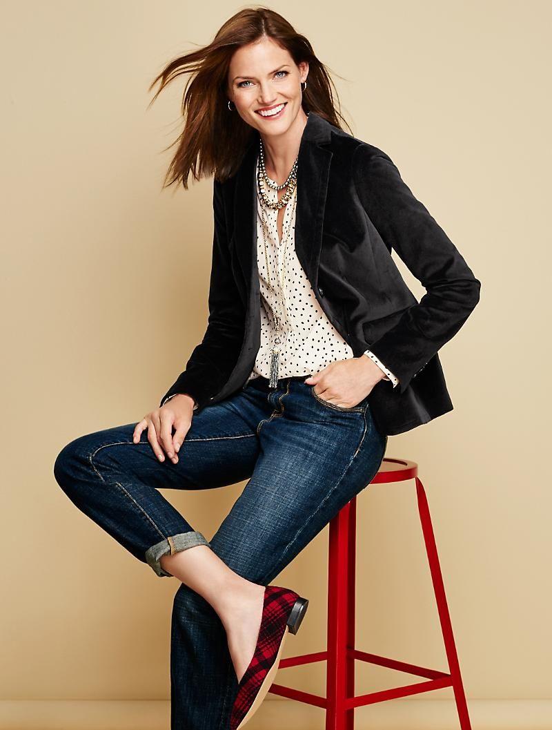 Winter Velvet Blazer Jackets Misses Black Blazer Outfits Women Black Velvet Blazer Blazer Outfits For Women [ 1057 x 800 Pixel ]