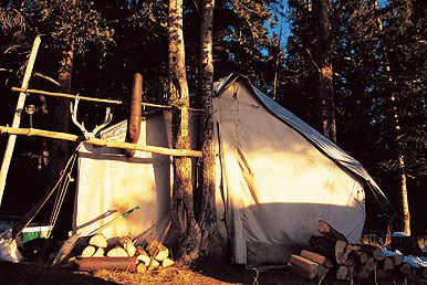 online retailer fa840 e06c2 Tips for a Better Wall Tent Hunting Camp | Great Camping ...